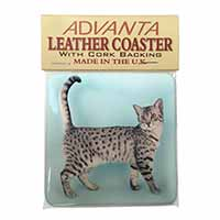 Egyptian Mau Cat Single Leather Photo Coaster Perfect Gift