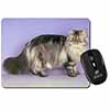 Silver Grey Persian Cat Computer Mouse Mat Christmas Gift Idea