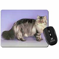 Silver Grey Persian Cat Computer Mouse Mat Birthday Gift Idea