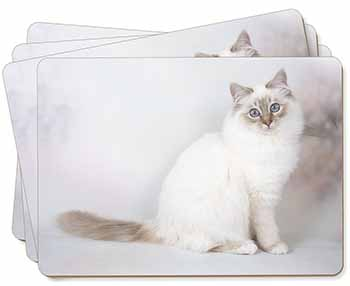 Beautiful Birman Cat Picture Placemats in Gift Box