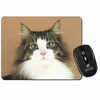 Tabby and White Cat Computer Mouse Mat Birthday Gift Idea
