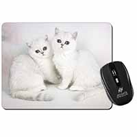 Exotic White Kittens Computer Mouse Mat Birthday Gift Idea