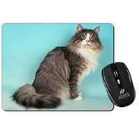 Norwegian Forest Cat Computer Mouse Mat Birthday Gift Idea