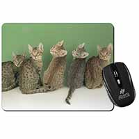 Cute Ocicat Kittens Computer Mouse Mat Birthday Gift Idea