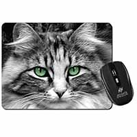 Gorgeous Green Eyes Cat Computer Mouse Mat Birthday Gift Idea
