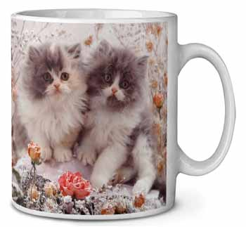 Persian Kittens by Roses Coffee/Tea Mug Gift Idea