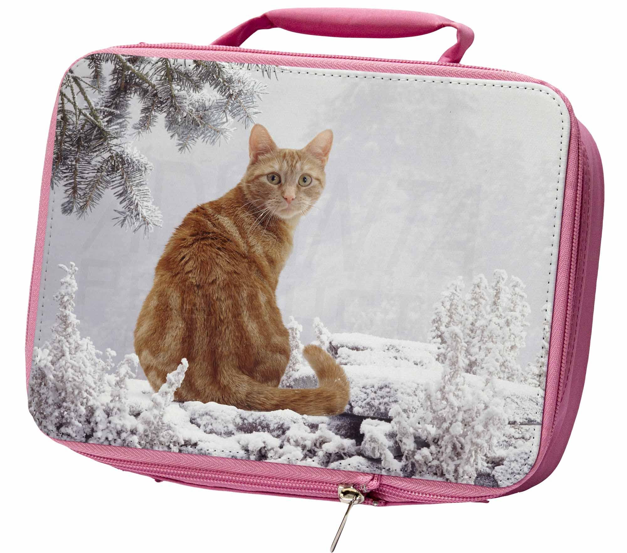Ginger Inverno Neve Gatto Ermetica Rosa Porta Pranzo, Ac-63lbp Rosa-  - ebay.it