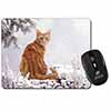 Ginger Winter Snow Cat Computer Mouse Mat Christmas Gift Idea