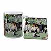 Cats and Kittens in Garden Mug+Coaster Christmas/Birthday Gift Idea