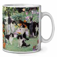 Cats and Kittens in Garden Coffee/Tea Mug Gift Idea