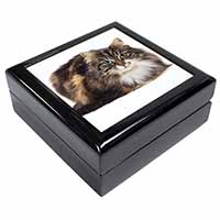 Beautiful Brown Tabby Cat Keepsake/Jewel Box Birthday Gift Idea