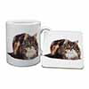 Beautiful Brown Tabby Cat Mug+Coaster Christmas/Birthday Gift Idea