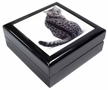 Silver Spot Tabby Cat Keepsake/Jewel Box Birthday Gift Idea