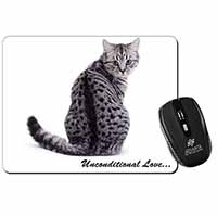 Tabby Cat Love Sentiment Computer Mouse Mat Birthday Gift Idea