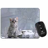 Animal Fantasy Cat+Snow Leopard Computer Mouse Mat Christmas Gift Idea