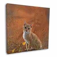 "Lion Spirit on Kitten Watch 12""x12"" Wall Art Canvas Picture"