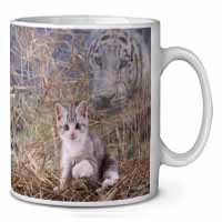 Kitten and White Tiger Watch Coffee/Tea Mug Gift Idea