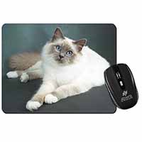 Adorable Birman Cat Computer Mouse Mat Christmas Gift Idea