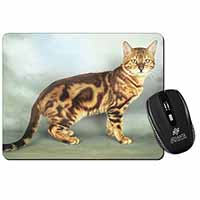 Bengal Gold Marble Cat Computer Mouse Mat Birthday Gift Idea