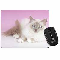 Lilac Birman Cat Computer Mouse Mat Birthday Gift Idea