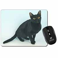 Black Bombay Cat Computer Mouse Mat Birthday Gift Idea
