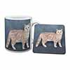 British Shorthair Ginger Cat Mug+Coaster Christmas/Birthday Gift Idea