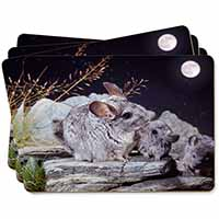South American Chinchillas Picture Placemats in Gift Box
