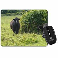 Cute Black Bull Computer Mouse Mat Birthday Gift Idea
