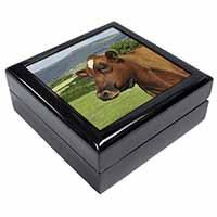 A Fine Brown Cow Keepsake/Jewel Box Birthday Gift Idea