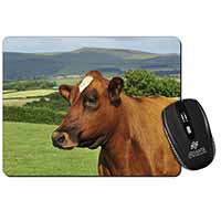 A Fine Brown Cow Computer Mouse Mat Birthday Gift Idea