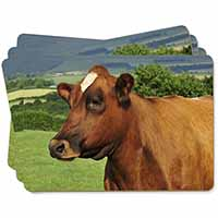 A Fine Brown Cow Picture Placemats in Gift Box