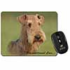 Airedale Terrier with Love Computer Mouse Mat Christmas Gift Idea