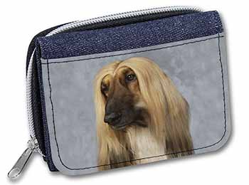 Afghan Hound Dog Girls/Ladies Denim Purse Wallet Birthday Gift Idea