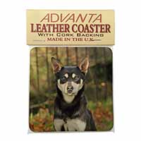 Australian Kelpie Dog Single Leather Photo Coaster Perfect Gift