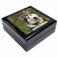 "Alaskan Malamute ""Yours Forever..."" Keepsake/Jewel Box Birthday Gift Idea"