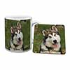 "Alaskan Malamute ""Yours Forever..."" Mug+Coaster Christmas/Birthday Gift Idea"