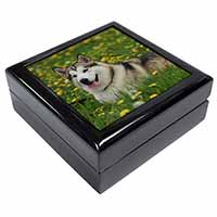 Alaskan Malamute Dog Keepsake/Jewel Box Birthday Gift Idea