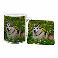 Alaskan Malamute Dog Mug+Coaster Birthday Gift Idea