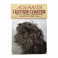 Affenpinscher Dog Single Leather Photo Coaster Perfect Gift
