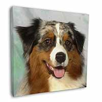 "Australian Shepherd Dog 12""x12"" Canvas Wall Art Picture Print"