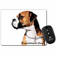 Boxer Dog With Love Computer Mouse Mat Christmas Gift Idea