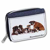 Boxer Dog-Love Girls/Ladies Denim Purse Wallet Birthday Gift Idea