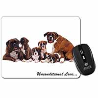Boxer Dog-Love Computer Mouse Mat Birthday Gift Idea