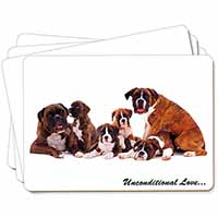 Boxer Dog-Love Picture Placemats in Gift Box