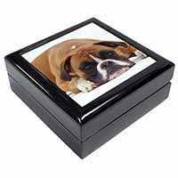 Red and White Boxer Dog Keepsake/Jewellery Box Birthday Gift Idea