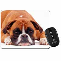 Red and White Boxer Dog Computer Mouse Mat Birthday Gift Idea