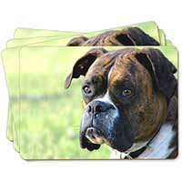 Brindle and White Boxer Dog Picture Placemats in Gift Box