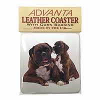 Boxer Dog Puppy Single Leather Photo Coaster Perfect Gift
