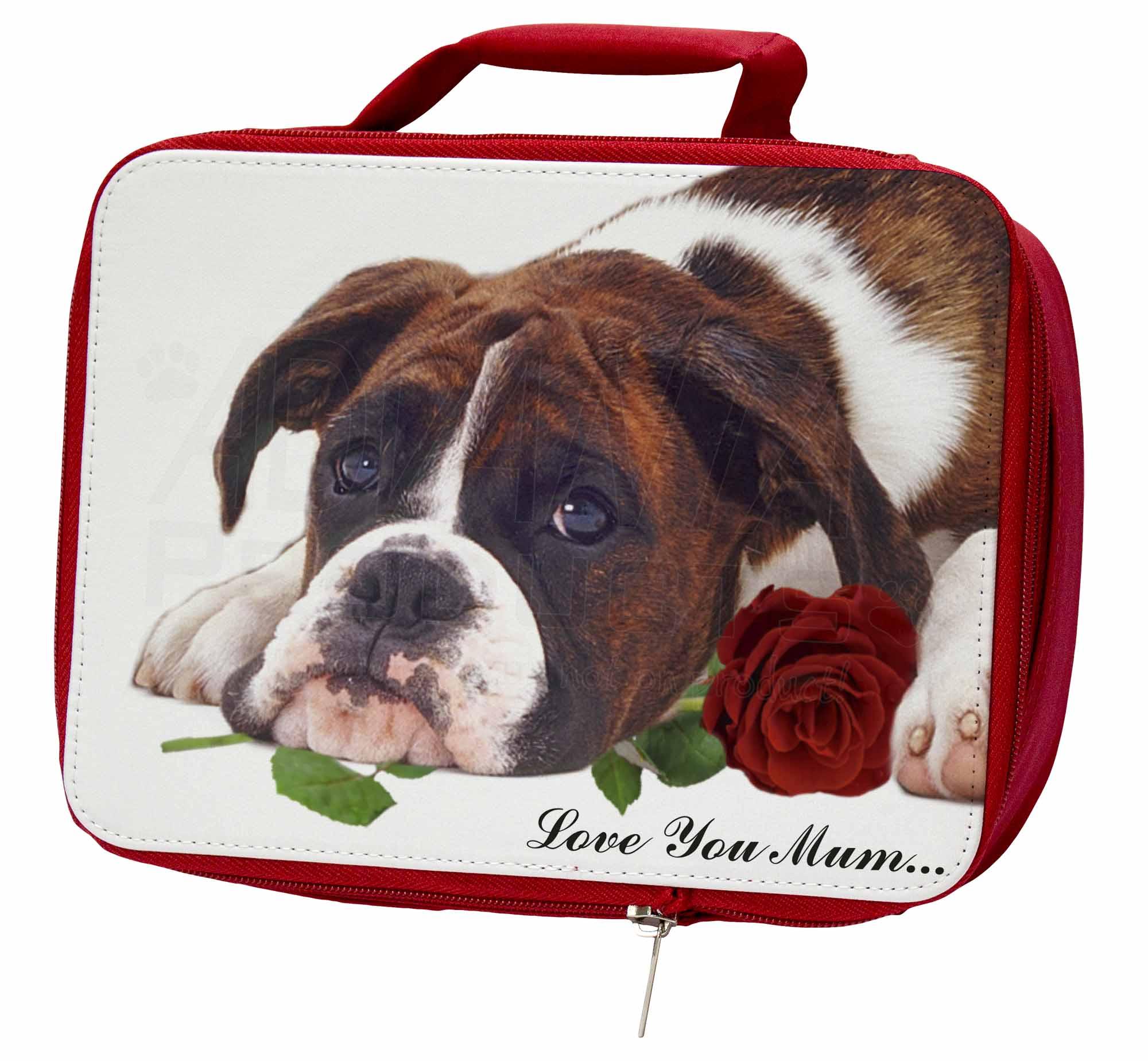boxer hund rose 39 liebe die sie mama 39 isolierte rote schule jausenbox picn eur 17 89. Black Bedroom Furniture Sets. Home Design Ideas