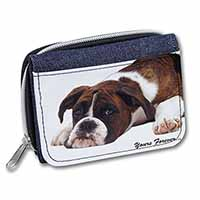 "Boxer Dog ""Yours Forever..."" Girls/Ladies Denim Purse Wallet Birthday Gift Idea"